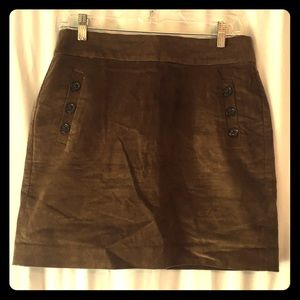 Banana Republic Brown Corduroy Skirt